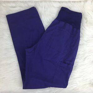 Cherokee S Maternity Scrub Pants Purple Stretch